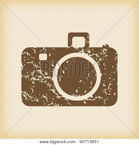 Grungy camera icon