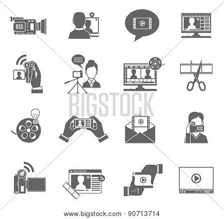 Video Blog Icons Set