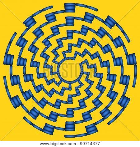 Dark-blue Round Maze (9 Circles)
