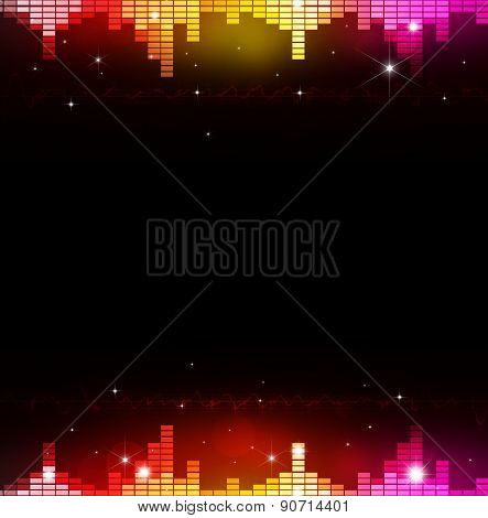 Abstract Multicolor Music Equalizer