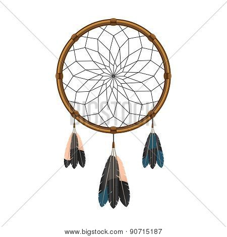 American indian dream catcher icon