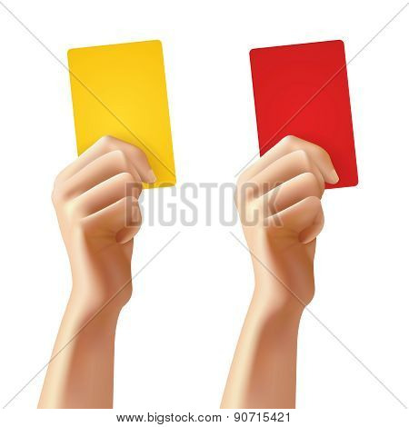 Hands With Soccer Cards