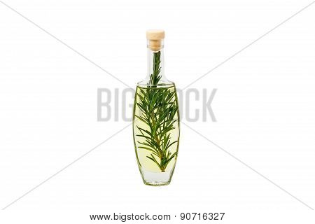 Rosemary Essential Oil Isolated.