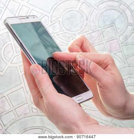 Smartphone In Woman Hand