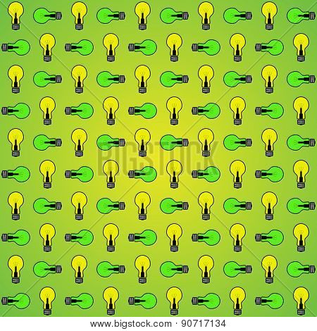 Seamless Texture (green And Yellow Glowing Lamp)