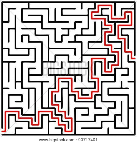 Black Square Maze (20X20) With Help