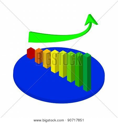Business Graph And Chart With Going Up Arrow