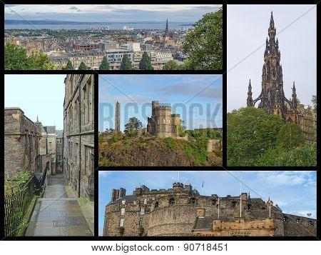 Edinburgh Landmarks Collage