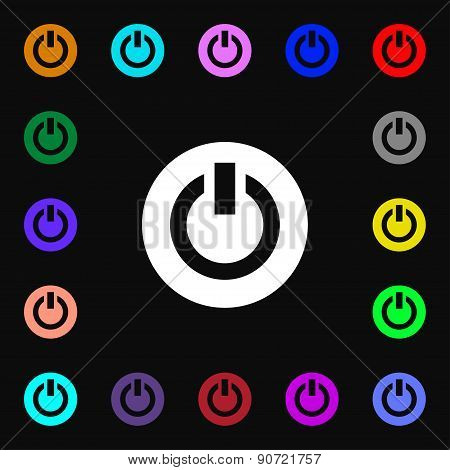 Power,  Switch On, Turn On   Icon Sign. Lots Of Colorful Symbols For Your Design. Vector