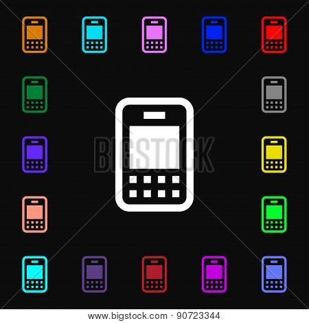 Mobile Telecommunications Technology  Icon Sign. Lots Of Colorful Symbols For Your Design. Vector