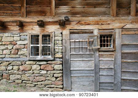 wall of the farmhouse 16