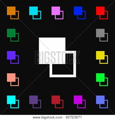 Active Color Toolbar  Icon Sign. Lots Of Colorful Symbols For Your Design. Vector