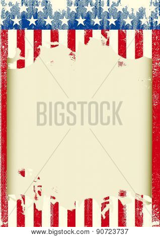 American grunge frame. An American background for your publicity
