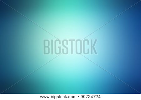 Abstract Light Blue And Green Blured Background