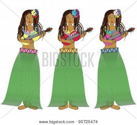 Hawaiian Hula Girls.eps