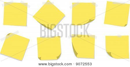 Sticky Notes with Tape