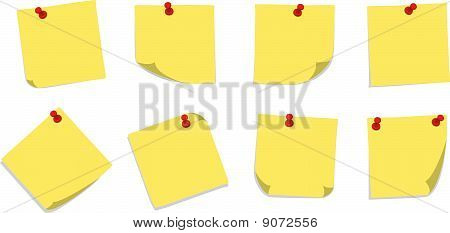 Sticky Notes with Pins