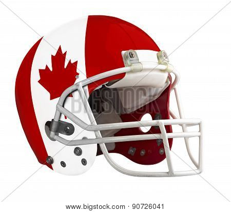 Flagged Canada American Football Helmet