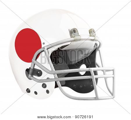 Flagged Japan American Football Helmet