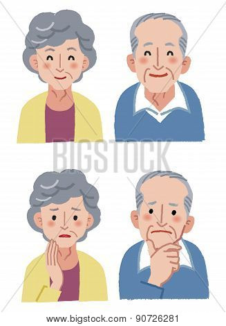 Elderly Couple Expression