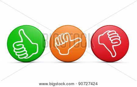 Customer Satisfaction Feedback Review Buttons