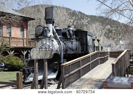 Antique Railroad Train In Colorado
