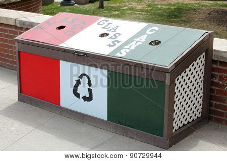 Recycle Bin In Front Of Citizens Park