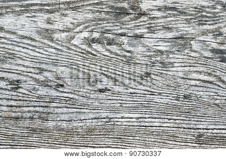 Texture Of Rough, Cracked, Worn, Wooden Surface