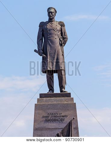 Ukraine, Sevastopol - September 02, 2011: Monument To Admiral Nakhimov, Led The Defense Of Sevastopo