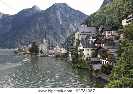Summer In Hallstatt Austria.