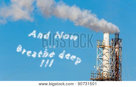 White Smoke In The Blue Sky