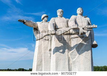 part of Panfilov Heroes Memorial
