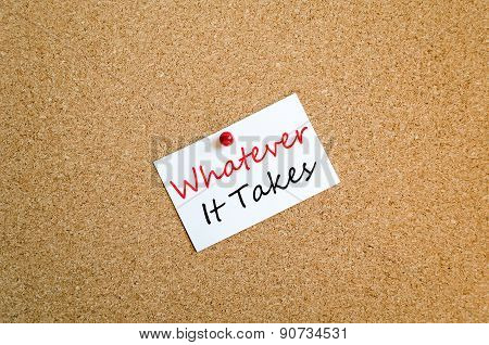 Whatever It Takes Sticky Note Concept