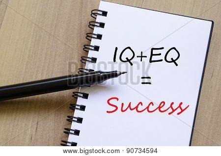 Success Concept Notepad