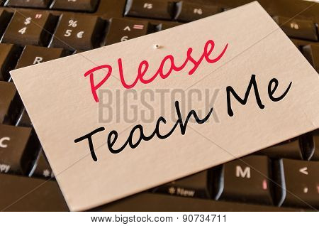 Please Teach Me Concept On Keyboard