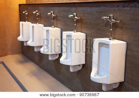 Toilet In Public Place In Low Light