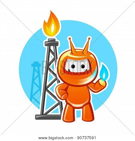 Natural Gas Industry Mascot