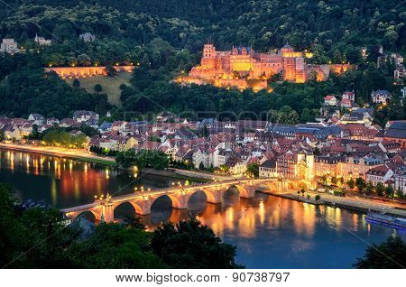 Heidelberg, Germany, At Blue Hour