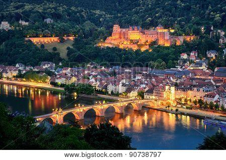Heidelberg, Germany, At Blue Hour