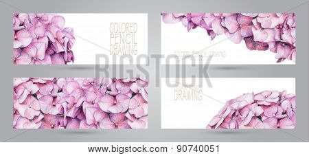 Banners With Beautiful Spring Flowers