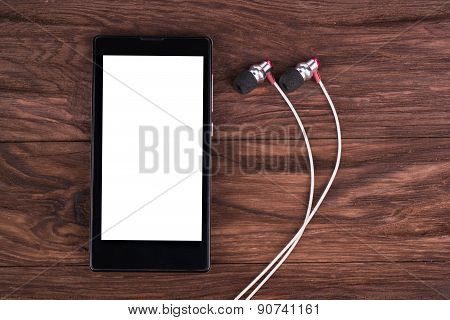 Mobile Phone And Headphones