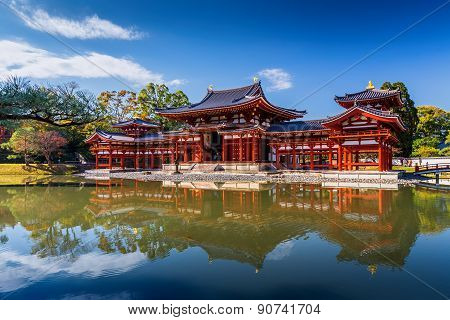 Uji, Kyoto, Japan - Famous Byodo-in Buddhist Temple.