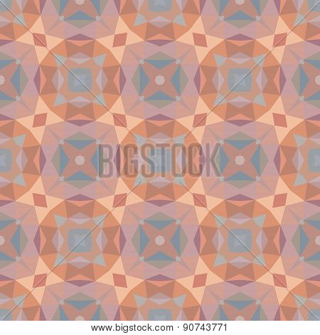 Abstract geometric background. Seamless vector pattern in pastel colors.