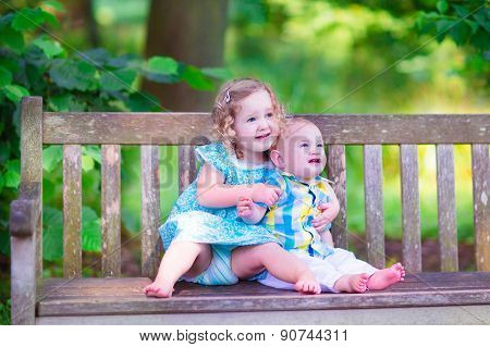 Brother And Sister In A Park