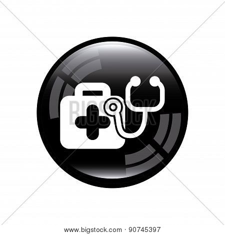 medical icon over gray background vector illustration
