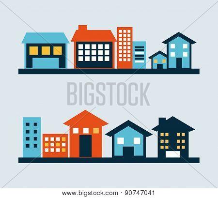 city design over blue background vector illustration