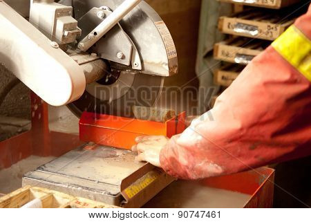 Stock Photo Core Cutting For Mining