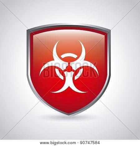 danger zone symbol over  background vector illustration