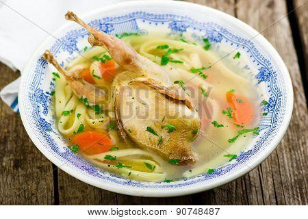 Homemade  Quails Soup.