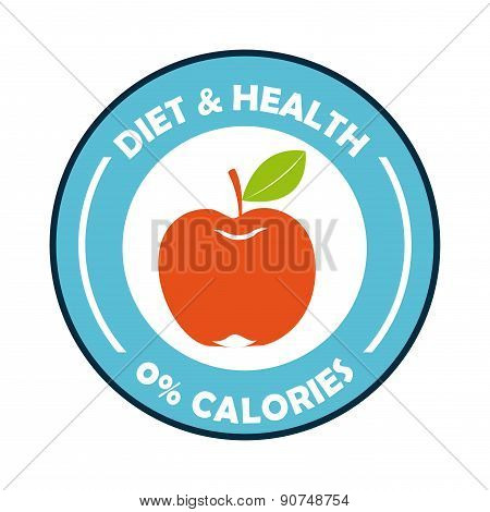 healthy food design over white background vector illustration